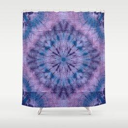 Purple Tie Dye Shower Curtain