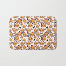 Pumpkinhead Pattern Bath Mat