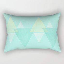 simplistic triangle.  Rectangular Pillow