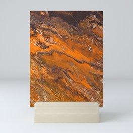 Amber Fire Mini Art Print