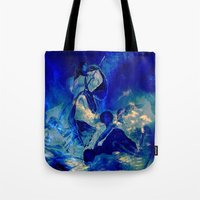 angels Tote Bags featuring angels by  Agostino Lo Coco