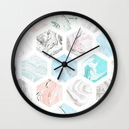 marble love; Wall Clock