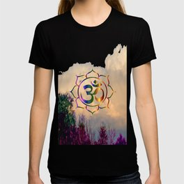 Trees Clouds Om T-shirt