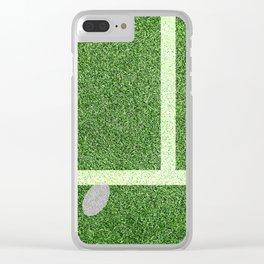 """""""IN"""" – Hawk-Eye - green Clear iPhone Case"""