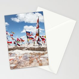 Salar de Uyuni International Flags Stationery Cards
