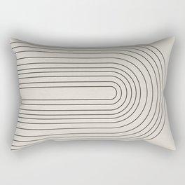 Arch Art, Modern Pattern, Mid Century  Rectangular Pillow