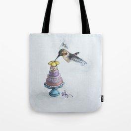 Rufio The Hummingbird Takes The Cake Tote Bag