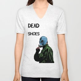 Dead Man's Shoes Comic Style Illustration  Unisex V-Neck