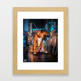 benji the Boxer Framed Art Print