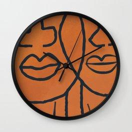 Janie and Teacake line art Wall Clock
