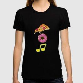Pizza Donut Music Italian Cuisine Foodies Food Lovers Gift T-shirt