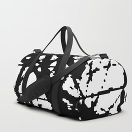tension, black and white Duffle Bag