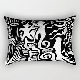 painting remix white Rectangular Pillow
