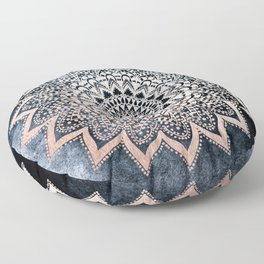 BLUE BOHO NIGHTS MANDALA Floor Pillow