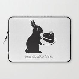 Bunnies Love Cake, Bunny Illustration, cake lovers, animal lover gift Laptop Sleeve