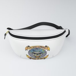 A Unique Detailed Pirate Tee For Yourself? I'm Just A Pirate Chasing The Booty! T-shirt Design Fanny Pack