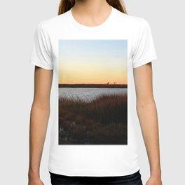 Watercolor Sunset, Janes Island 04, Maryland T-shirt