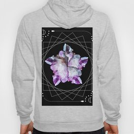 Crystal Totem Line Work Occult Tattoo Style Illustration Hoody