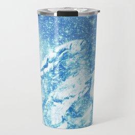 Celestial Guardian Angel Blue Travel Mug