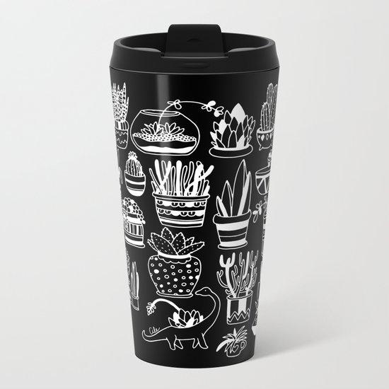 Succulent Party (Night Version) Metal Travel Mug
