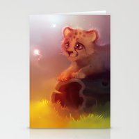 cheetah Stationery Cards featuring Cheetah by apofiss