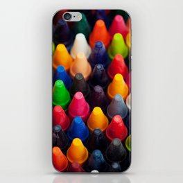 Various Crayons Stacked Together iPhone Skin