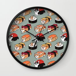 Sushi  Corgi Wall Clock