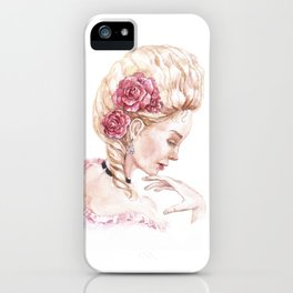 The image of Marie Antoinette iPhone Case