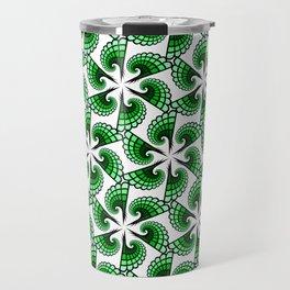 Beautful whirling green spirals Travel Mug