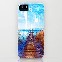 Lake Jetty In Veneto Italy - Jetties Around The World iPhone Case