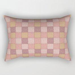 Faux Quilt Dots Rectangular Pillow