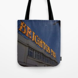 Brighton Pier at Night Tote Bag