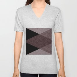 Black and brown marble Unisex V-Neck