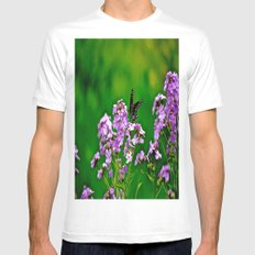 The Colors of Spring Mens Fitted Tee MEDIUM White