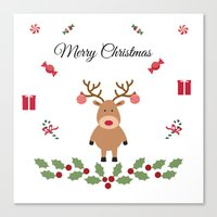 merry christmas Canvas Prints featuring Merry Christmas by haroulita