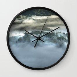 Mist on the Mountain Wall Clock