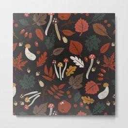 Dark autumnal mushrooms II Metal Print