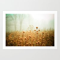 green Art Prints featuring Daybreak in the Meadow by Olivia Joy StClaire