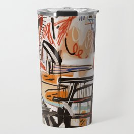 A vectorised Basquiat Travel Mug