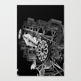 Lifes Ride (black and white) Canvas Print