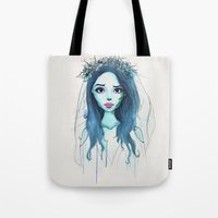 emily rickard Tote Bags featuring Emily by André Luiz Barbosa