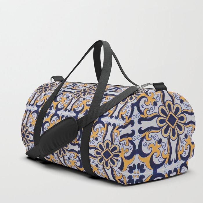 Portuguese tile Duffle Bag