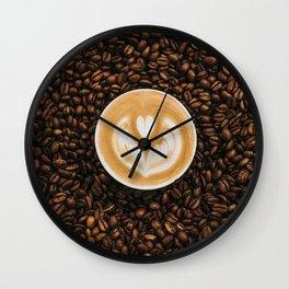 coffee #society6 #decor #buyart Wall Clock