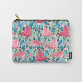 Tropical Flamingo watercolor Carry-All Pouch