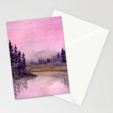 Misty Lake Stationery Cards