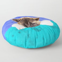 American Akita Puppy Floor Pillow