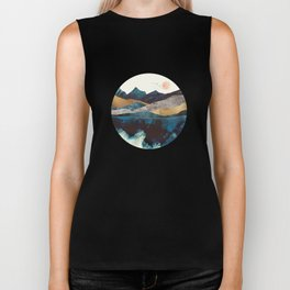 Blue Mountain Reflection Biker Tank