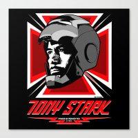 tony stark Canvas Prints featuring Tony Stark by Ant Atomic