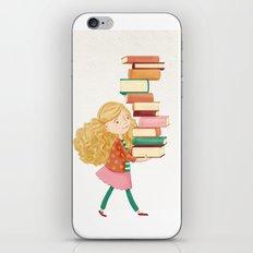 Library Girl 2 iPhone & iPod Skin