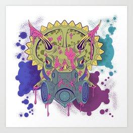 Tricera-paint Art Print